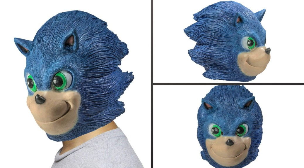 This Sonic The Hedgehog Movie Style Mask Is Now On Sale And It S As Horrifying As You D Expect Nintendosoup