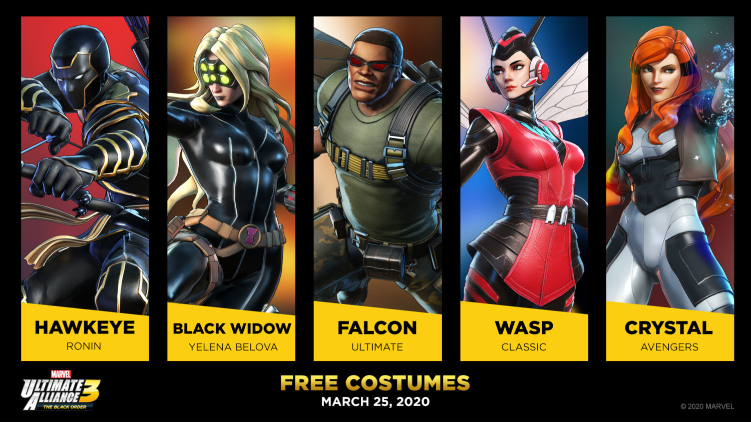 Another Set Of Five Free Costumes Revealed For Marvel Ultimate Alliance 3 Nintendosoup About 3% of these are tv & movie costumes, 0% are women's trousers & pants, and 0% are zentai / catsuit. marvel ultimate alliance 3