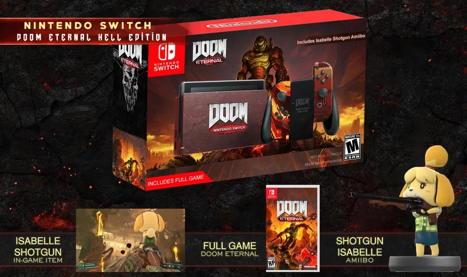 Fan Art Nintendo Switch Doom Eternal Hell Edition Nintendosoup