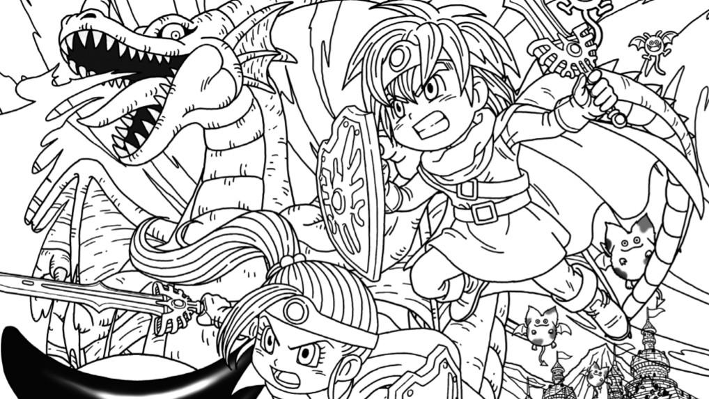 Square Enix Shares Dragon Quest Coloring Sheets NintendoSoup
