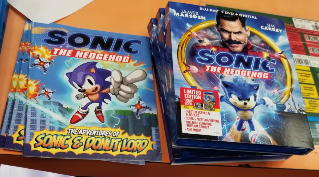 Sonic Movie Blu Ray Release Includes 16 Bit Style Comic Book Nintendosoup