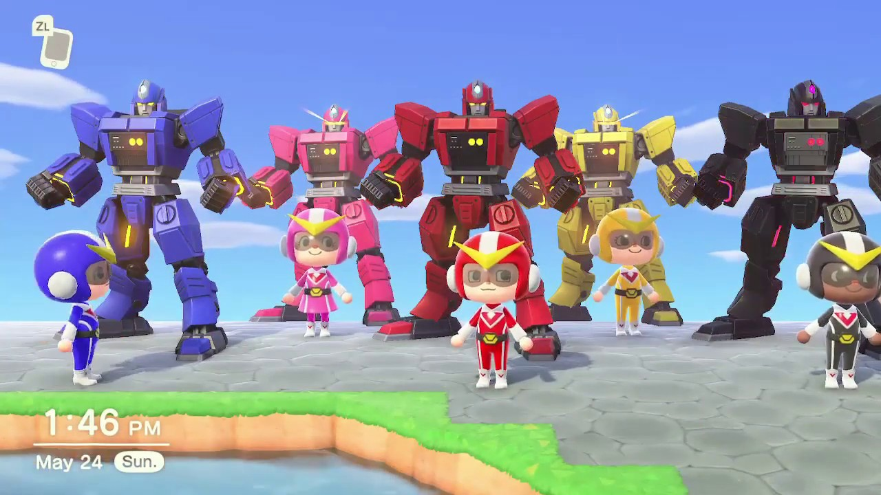 The Famous Mighty Morphin' Power Rangers Intro Is Recreated In Animal Crossing: New Horizons | NintendoSoup