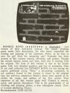Donkey Kong Review - Computer Entertainer - June 1986