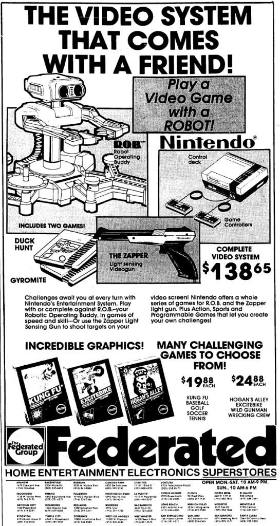 NES Ad - Federated - 03-13-1986 - Credit Frank Cifaldi