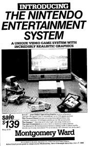 NES Ad - Montgomery Ward - 06-04-1986 OC Register - Credit Frank-Cifaldi