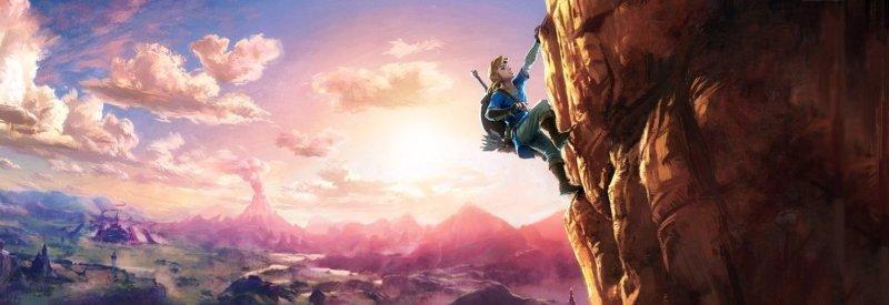 Zelda-Link Climbing Art