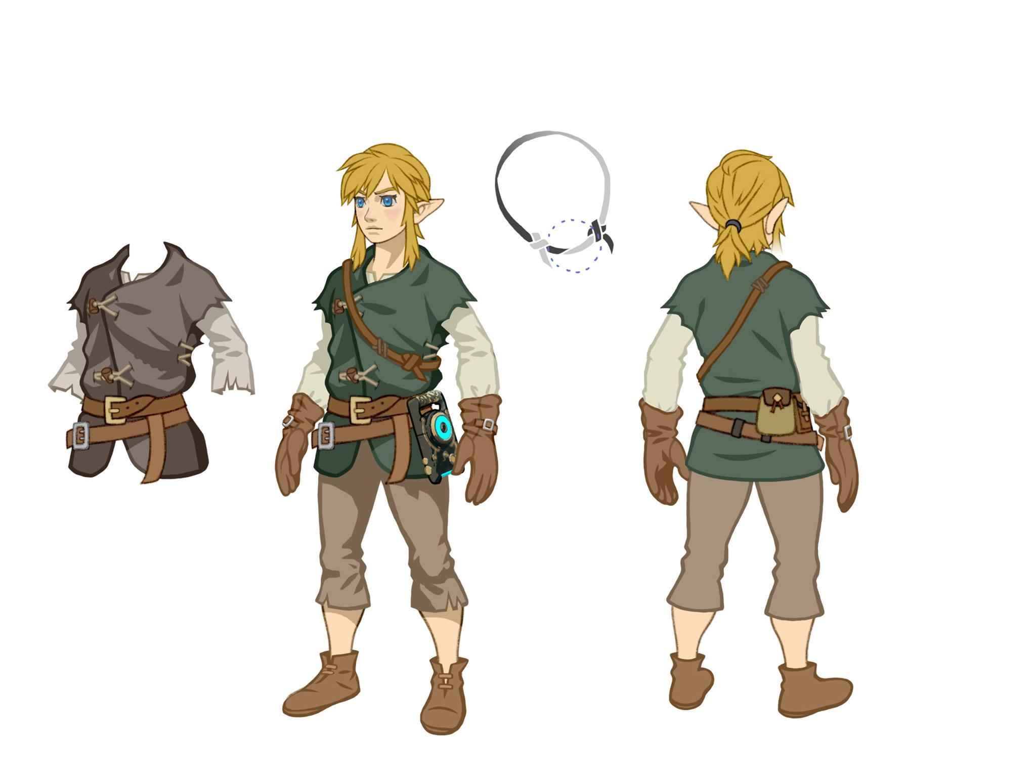 Zelda Breath Of The Wild Concept Art For Link S Winter Tunic
