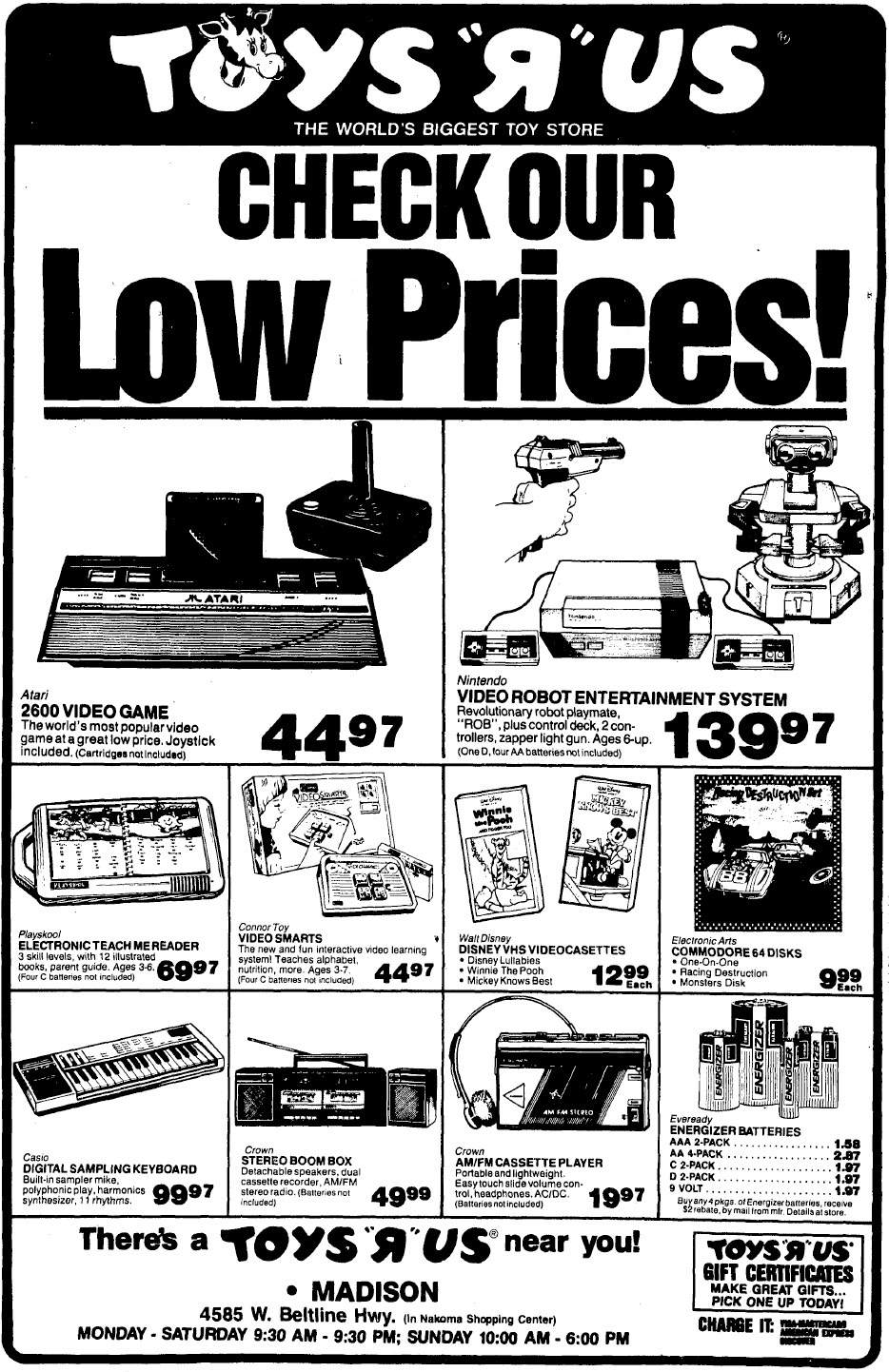 Latest Toys R Us Ad For Madison, Wisconsin – Nintendo Times