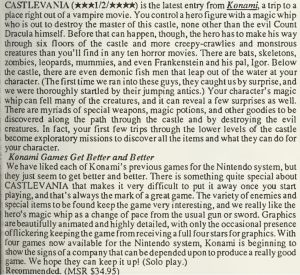 Castlevania Review - Computer Entertainer - June 1987 - pg13