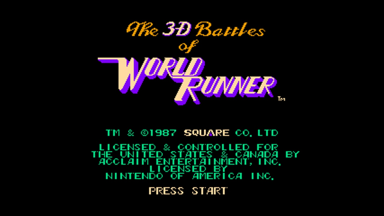3-D WorldRunner (NES) Game Hub