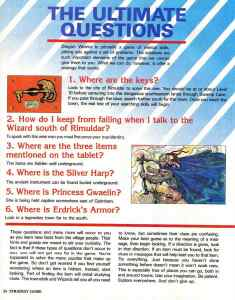 Nintendo Power | November December 1989 | Dragon Warrior Strategy Guide pg-34