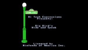 Sesame Street: Big Bird's Hide & Speak (NES) Game Hub