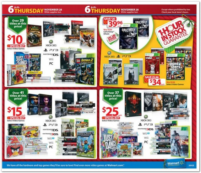 Walmart Black Friday Deals Leaked 99 2DS And 15 And 25