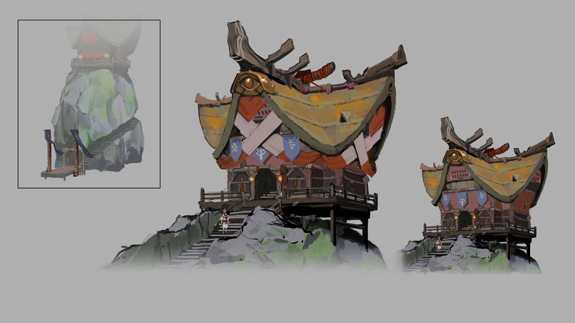 Concept Art For A Sheikah Building In Breath Of The Wild