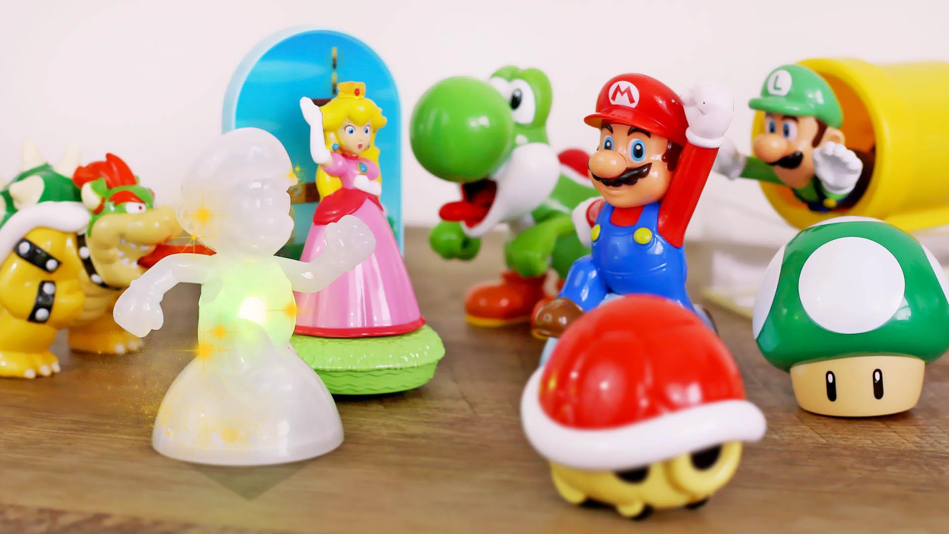 McDonalds Super Mario Happy Meal Toys Unboxing 2017