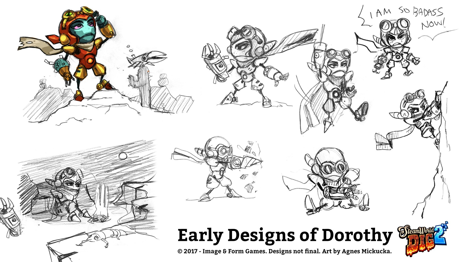 Image Amp Form Shares Concept Art For Steamworld Dig 2