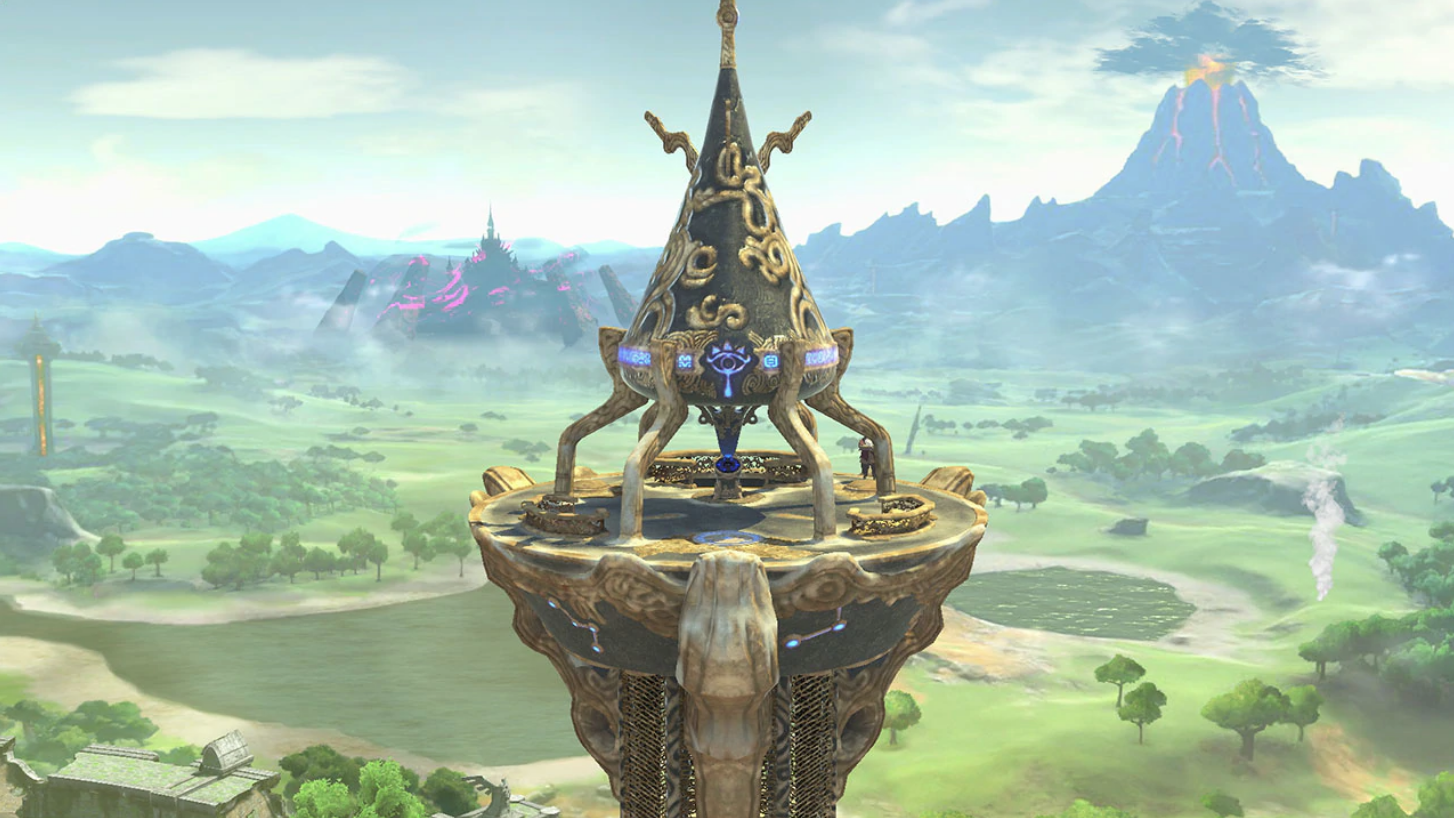 Catch The Breathtaking View From The Great Plateau Tower In Super Smash Bros Ultimate