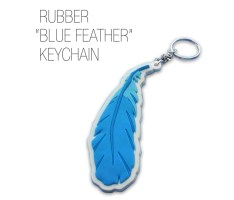 blue feather key-chain