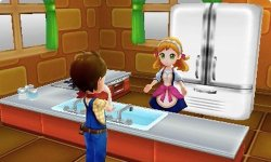 Harvest Moon Skytree Village Screenshot in Kitchen