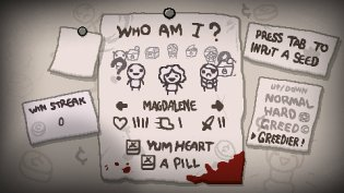 The Binding of Isaac: Afterbirth+ Nintendo Switch Screenshot - Input Seed
