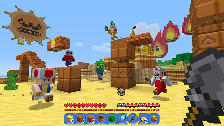 Minecraft Nintendo Switch Edition Screenshot Desert Mario Theme Mash-up