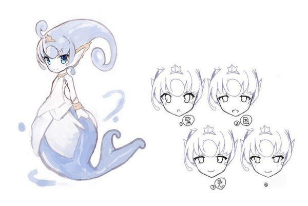 Ever Oasis Concept Art of Esna the Water Spirit Nintendo 3DS
