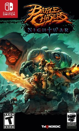 Battle Chasers: Nightwar Box Art, Nintendo Switch