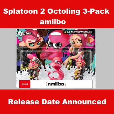 Splatoon 2 amiibo Octoling 3-Pack Preview, Octoling Boy & Girl and Octopus