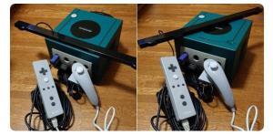 Gamecube Prototype Wiimote, Nunchuck, Sensor Bar & Gamecube Console