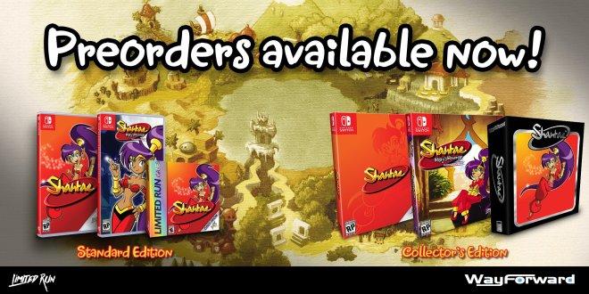 Shantae Preorder Limited Run Games