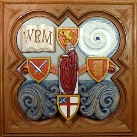 """SPS Form of 2006 Plaque, 11.25"""" x 11.25"""", painted basswood."""