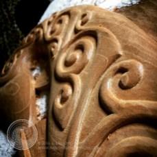 A close-up of the refineds spirals.