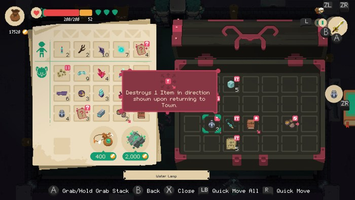 Moonlighter on Switch