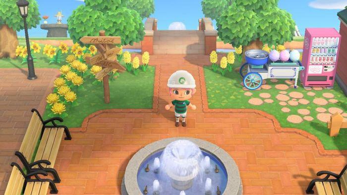 Animal Crossing brick path border