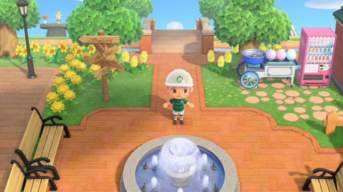 Animal Crossing brick path border