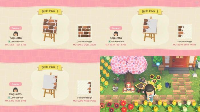 Animal Crossing brick path