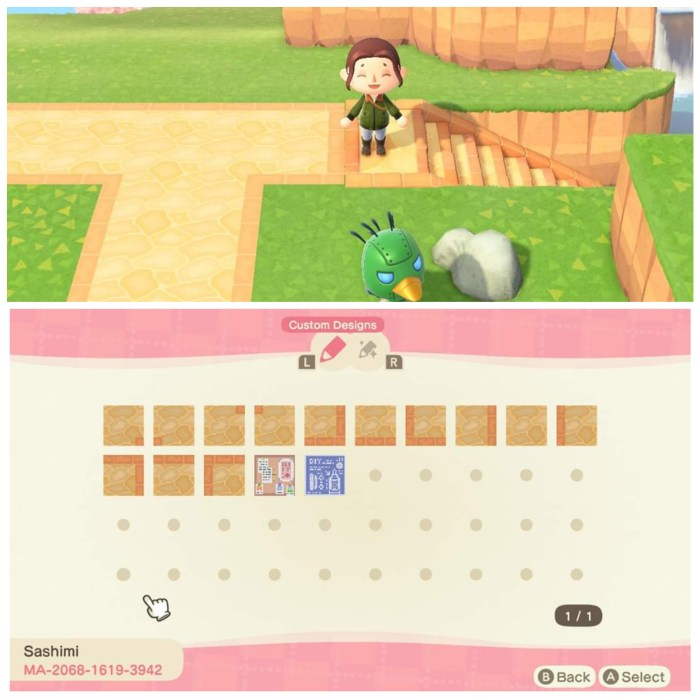 Animal Crossing brick pattern