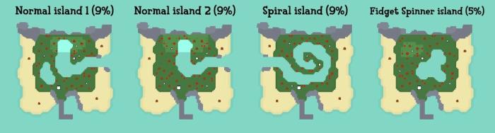 Nook Miles islands Type 1