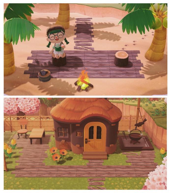 Animal Crossing shipwreck pattern