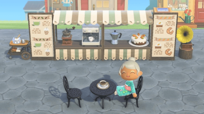 Animal Crossing signs cafe