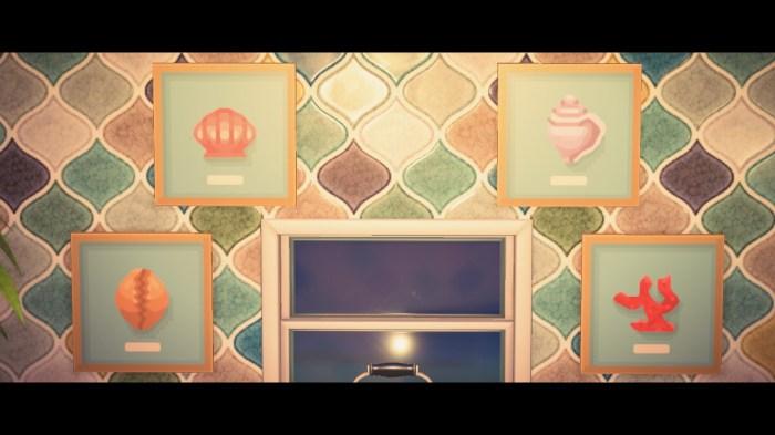 Animal Crossing paintings shells