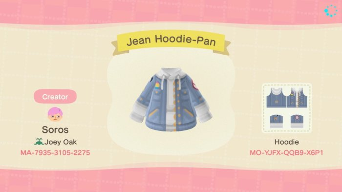 Animal Crossing LGBT pan hoodie