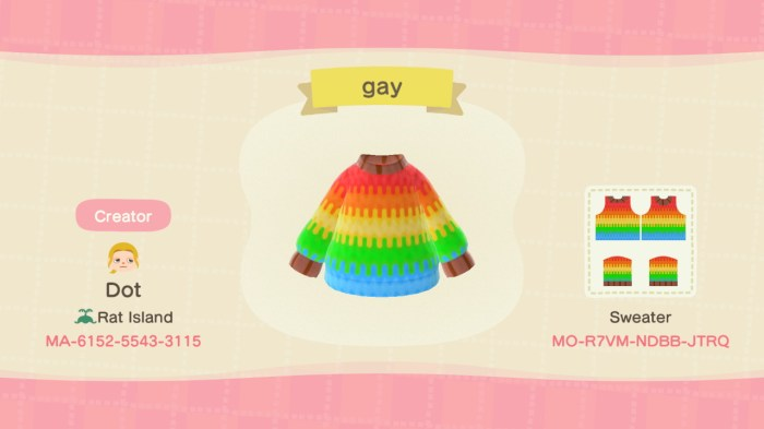 Animal Crossing lgbt sweaters