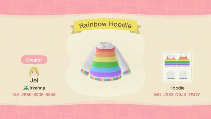 ACNH LGBT Rainbow Hoodie