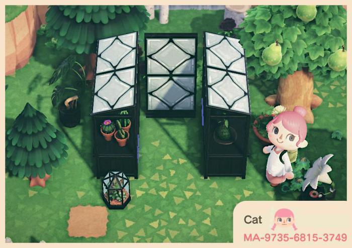 Animal Crossing stall patterns – Greenhouse glass