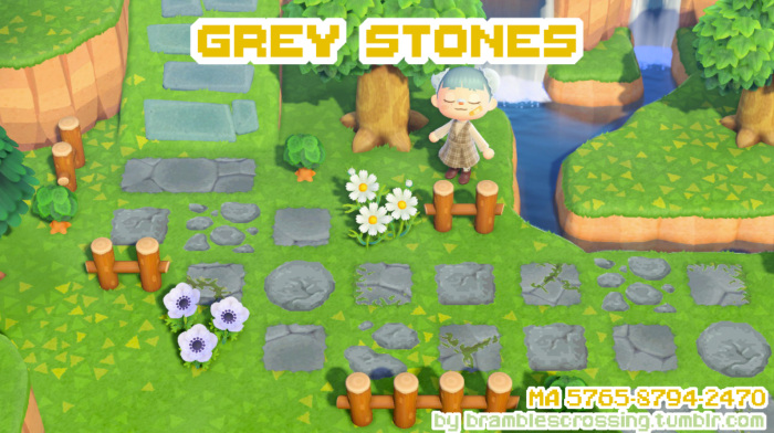Grey Stone Animal Crossing path