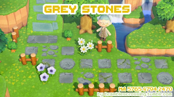 Grey Stone Animal Crossing path