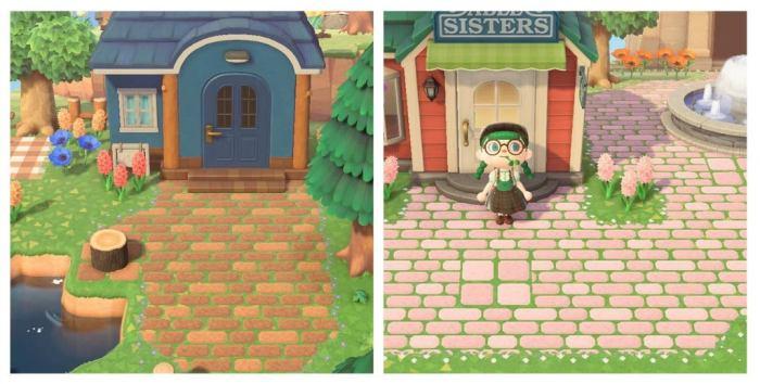 Spring & Summer Brick ACNH paths