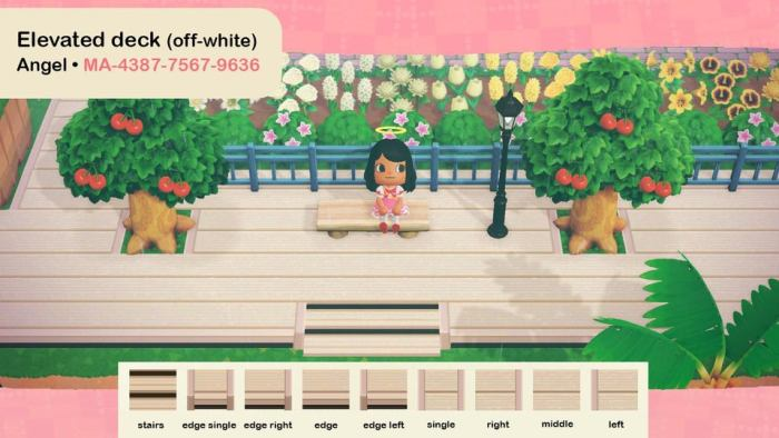 Animal Crossing deck white