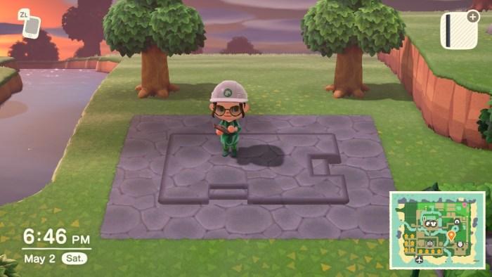Animal Crossing stone deck